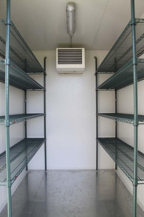 Internal Shelving on our Large Mobile Coldroom