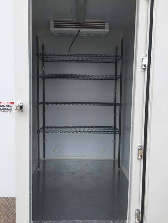 Internal Shelving on Standard Size Coldroom